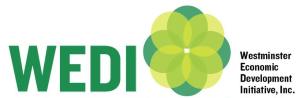 Westminster Economic Development Initiative, Inc. (WEDI) logo